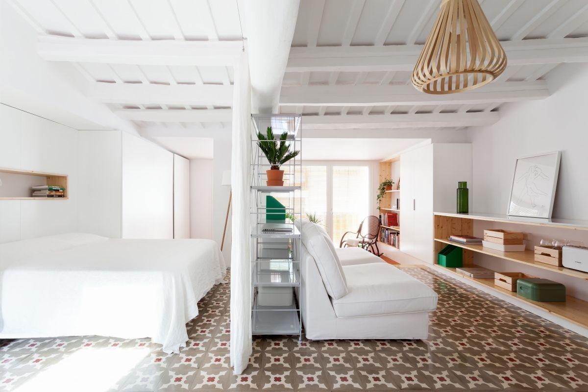 O mesmo piso na decoração de casa pequena