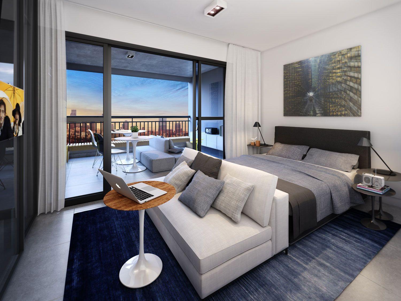 Apartamento pequeno com sacada