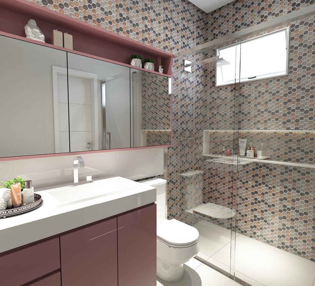 Utilize uma cor como base para a decoração do banheiro