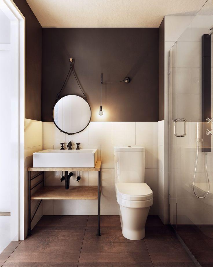 Estrutura metálica aparece de forma diferente no banheiro