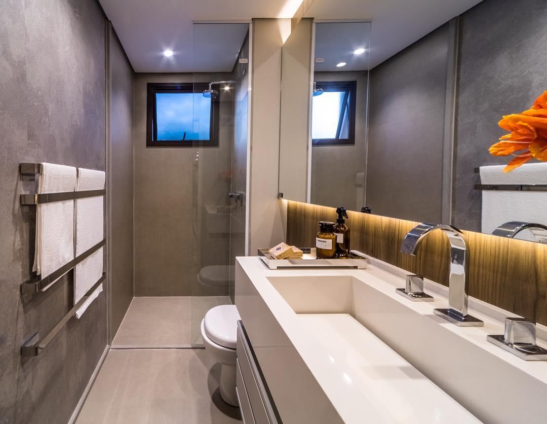 Banheiro decorado simples