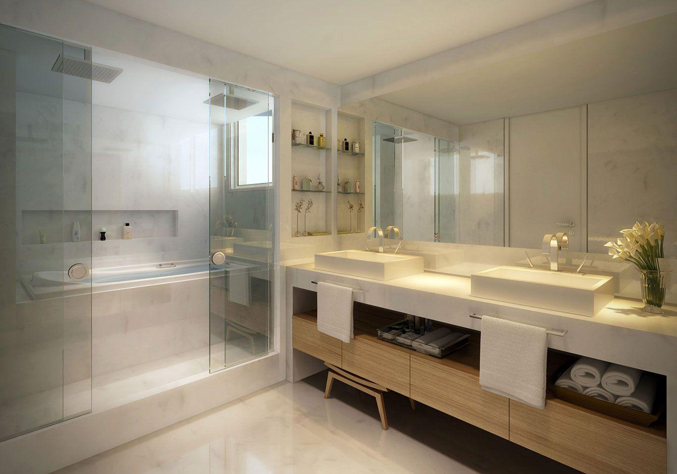 Banheiro decorado para casal