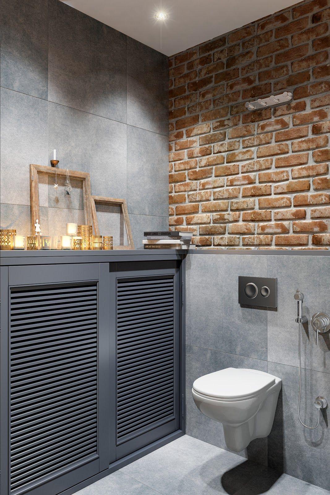 Banheiro com estilo industrial