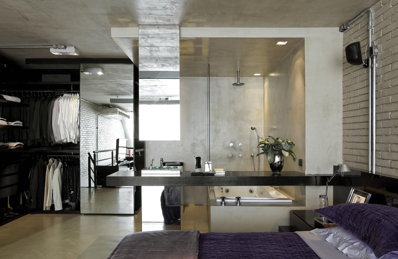 Banheiro decorado sem paredes
