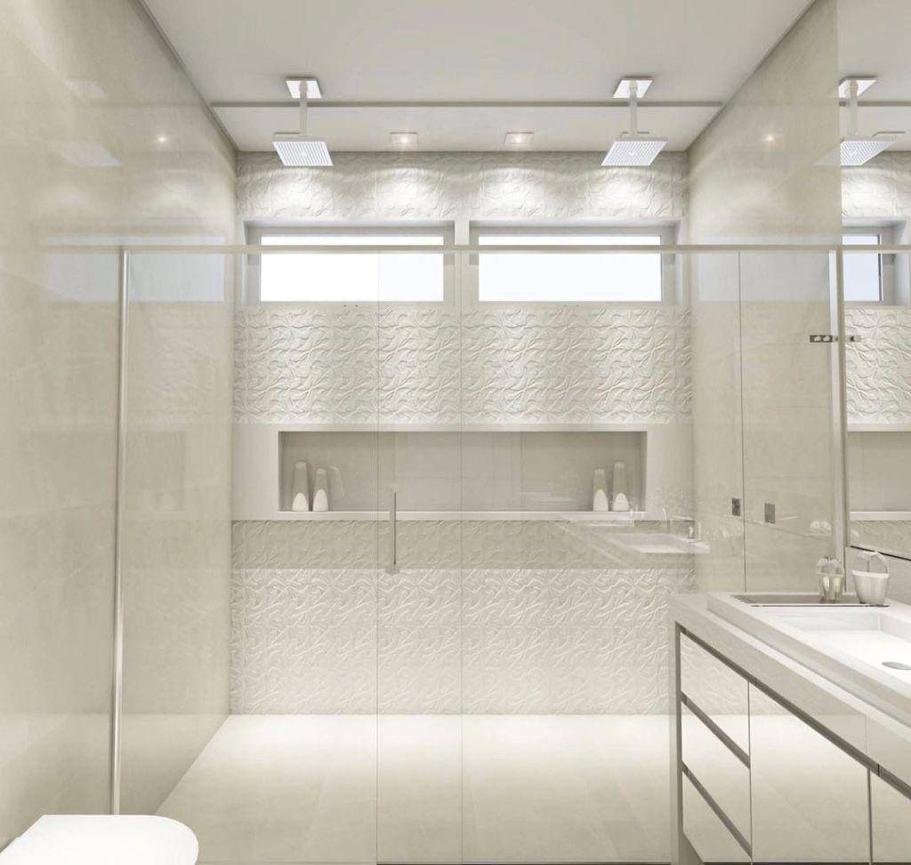 Banheiro decorado branco