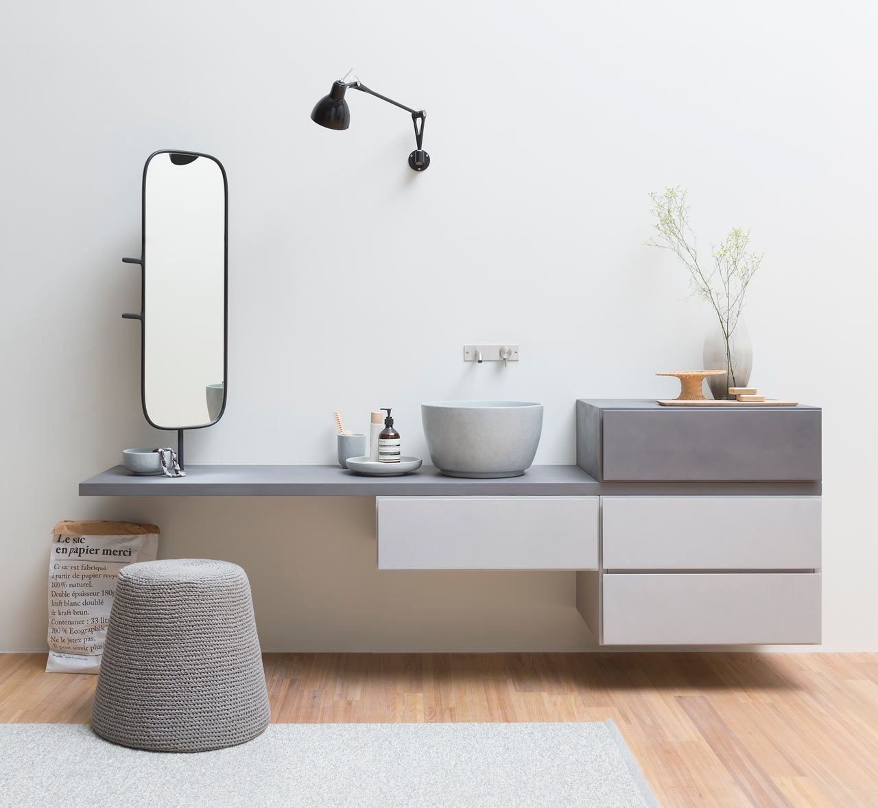 Unidades modulares para banheiros decorados