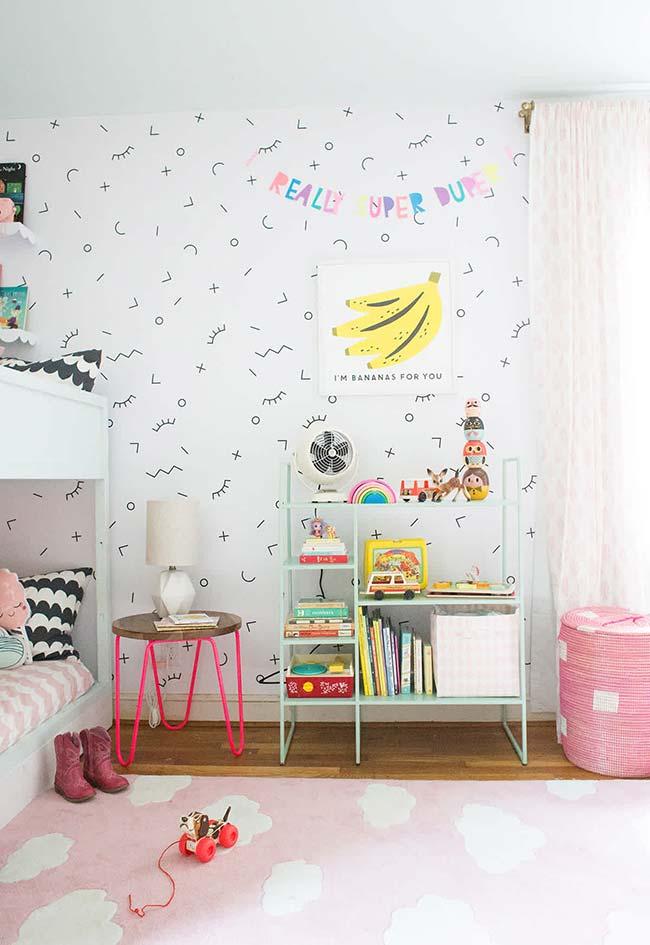 Tons pastéis na decoração do quarto de menina