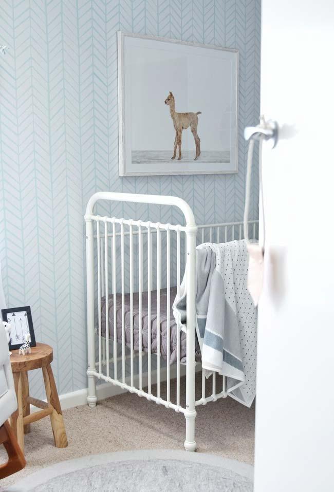 Quarto de bebê com papel de parede: para não ter erro, vá nas cores suaves e estampas delicadas de papel de parede