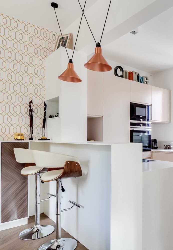 Em cozinhas pequenas o mais indicado é fazer uma decoração mais clean