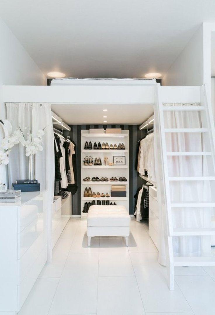Ganhando um pouco de espaço para as roupas