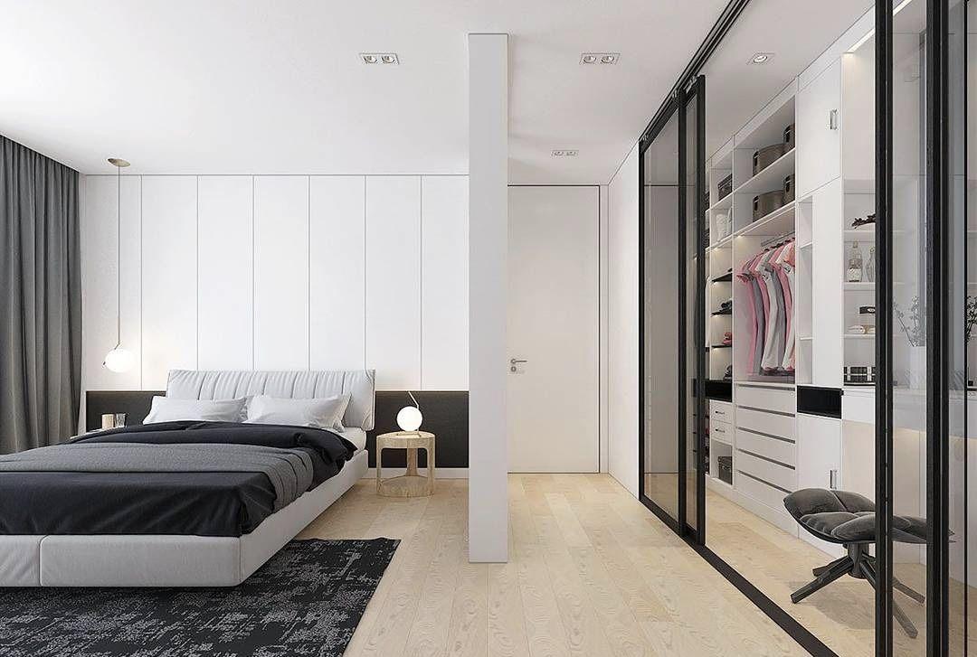 A porta delimita a área do closet