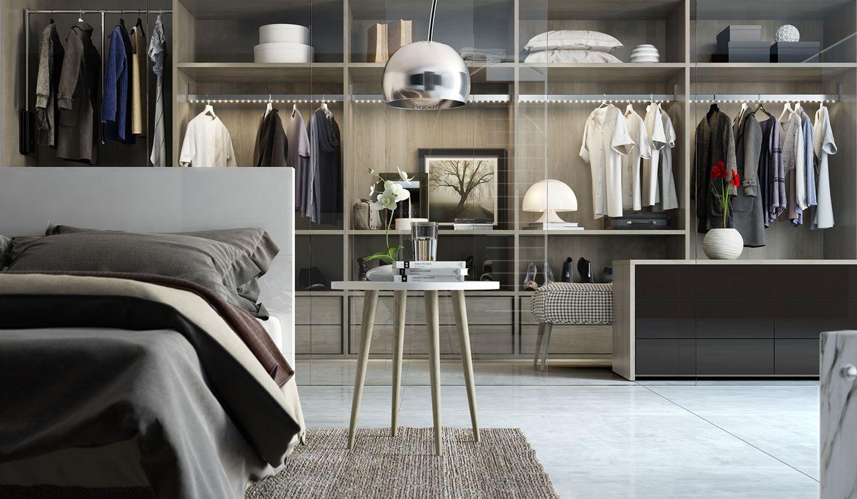 Para as portas de vidro, procure manter o closet sempre organizado