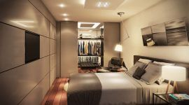 Quarto com closet: projetos, fotos e plantas