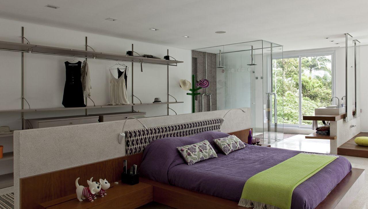 O quarto pode ganhar um ar descolado, removendo as paredes do cômodo