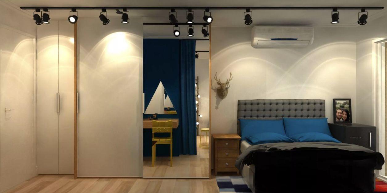Mesmo sem paredes ou divisórias, o closet pode receber a proposta de um ambiente aberto