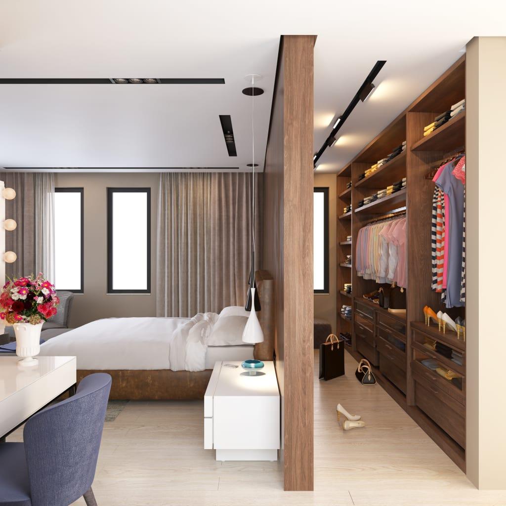 quarto com closet 70 fotos projetos e plantas. Black Bedroom Furniture Sets. Home Design Ideas