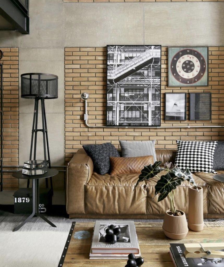 Casas decoradas com estilo industrial.