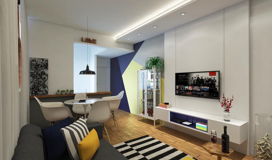 O efeito da pintura pode fazer toda a diferença no espaço de uma casa decorada.