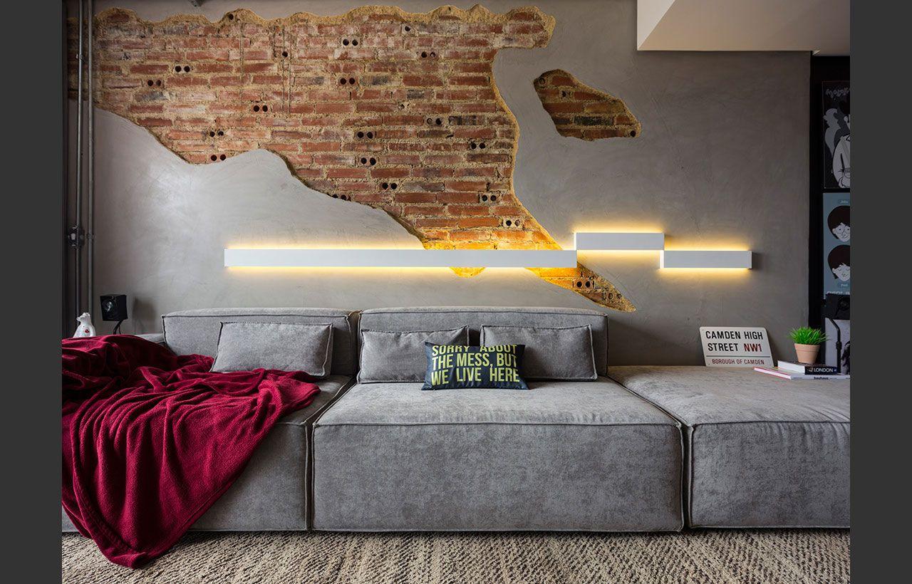 Em casas decoradas: brinque com as texturas através dos revestimentos.