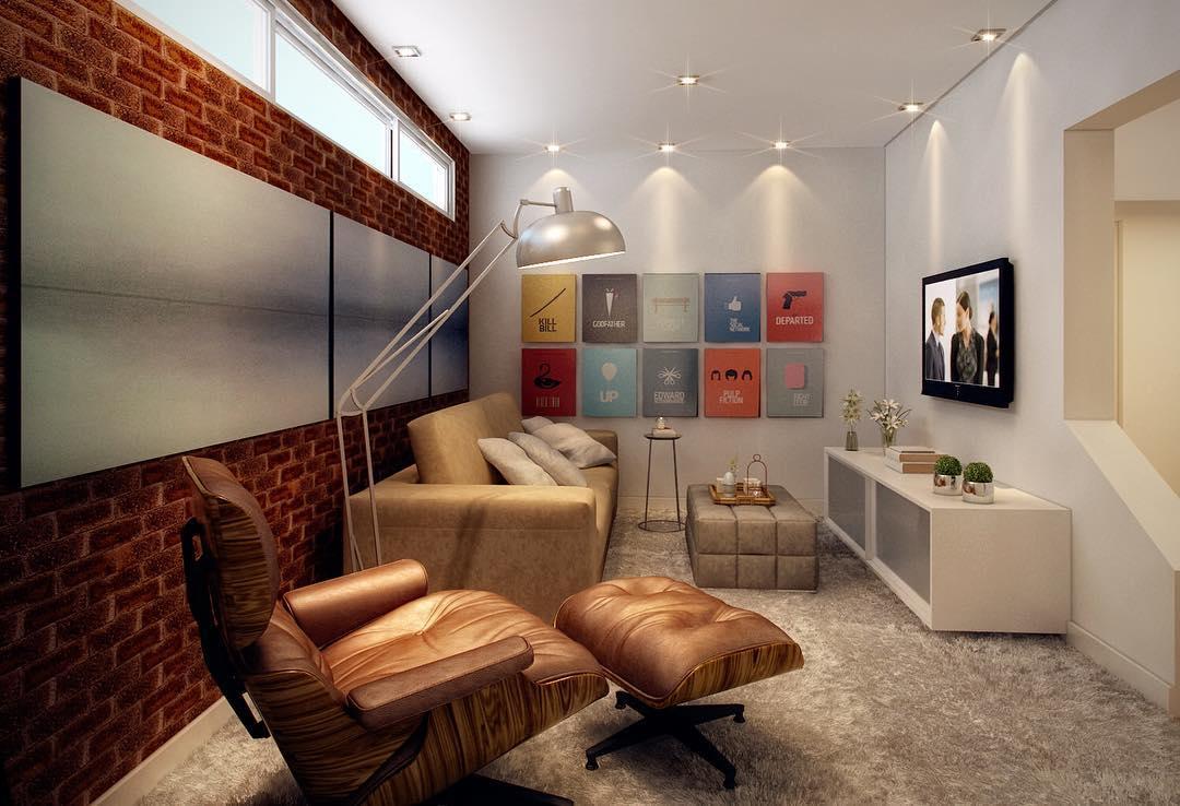 Coloque seus quadros favoritos na parede em casas decoradas.