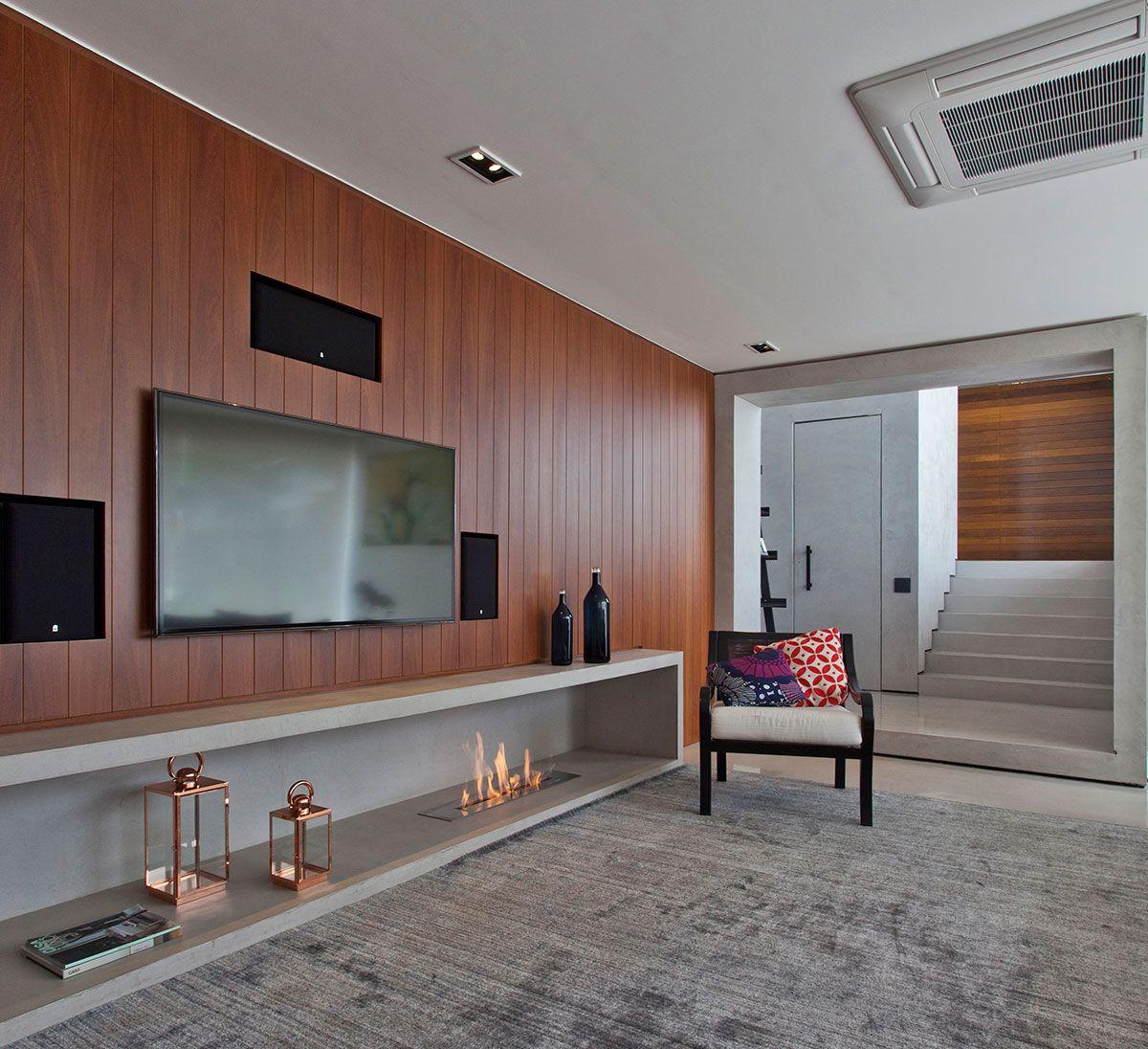 Casa decorada elegante e moderna.