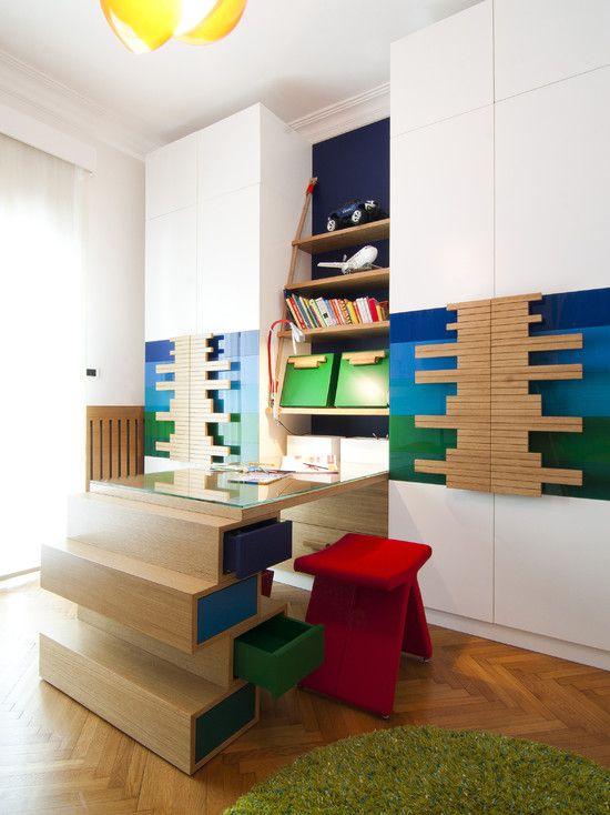 Se inspire em um quarto colorido para as crianças.