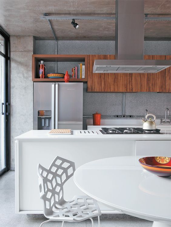 Cozinha gourmet com cooktop