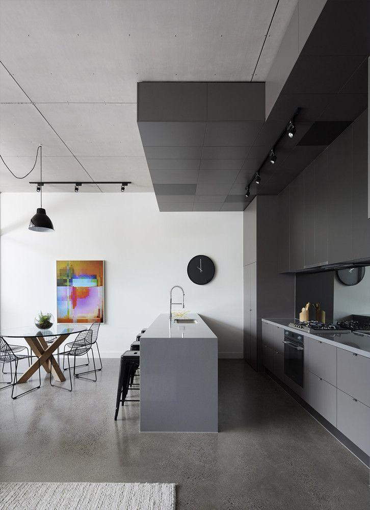 Piso contínuo na decoração da cozinha gourmet