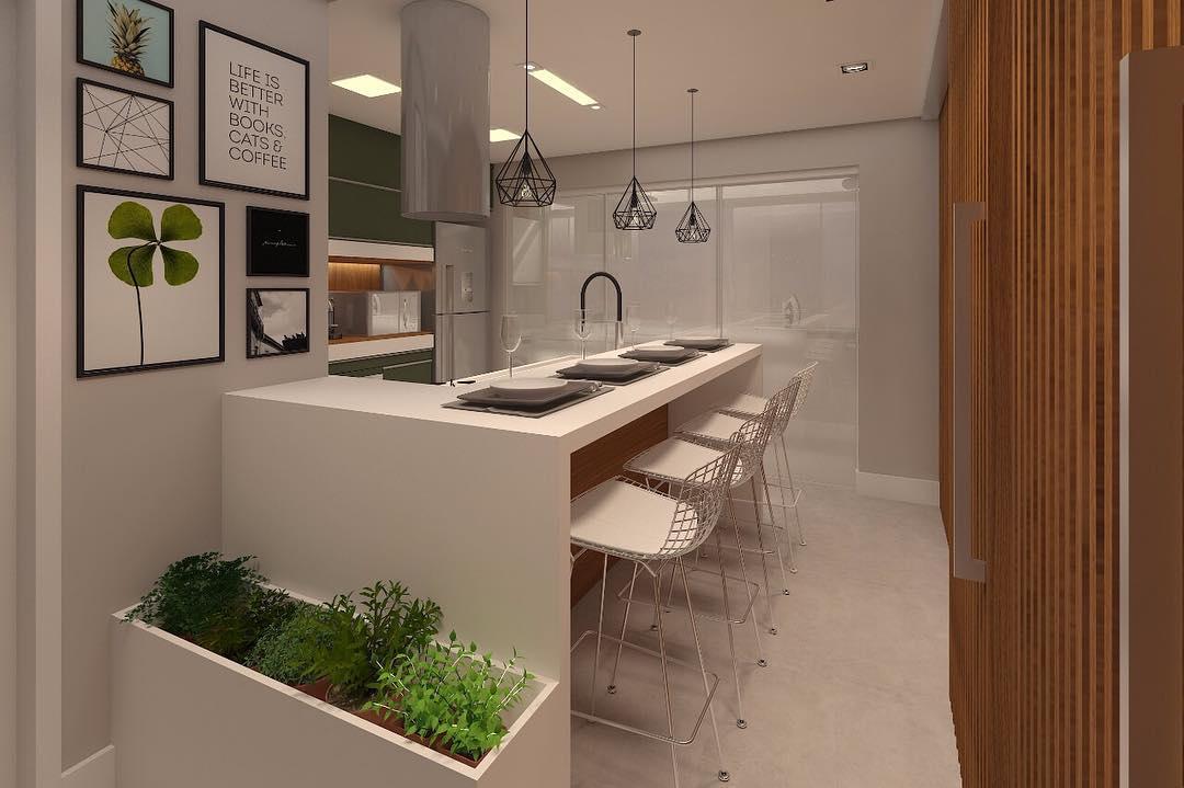 Cozinha gourmet planejada