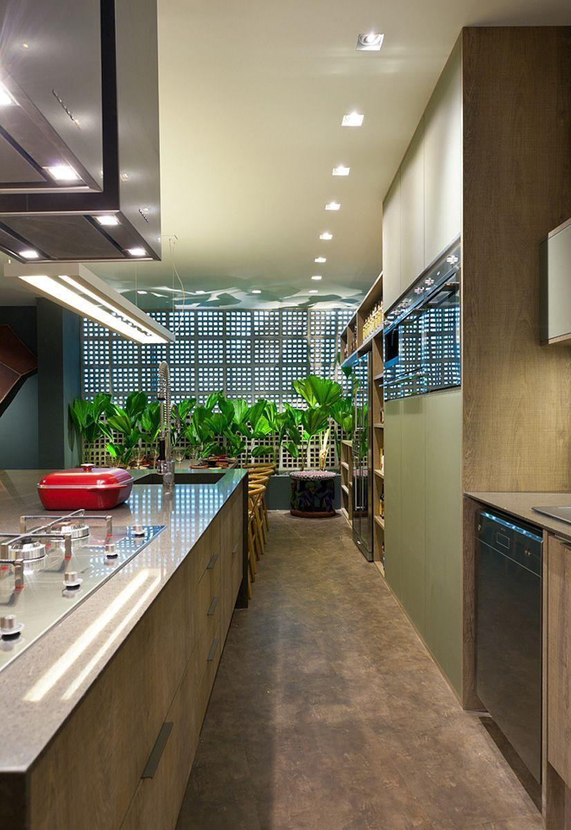 Cooktop na cozinha gourmet