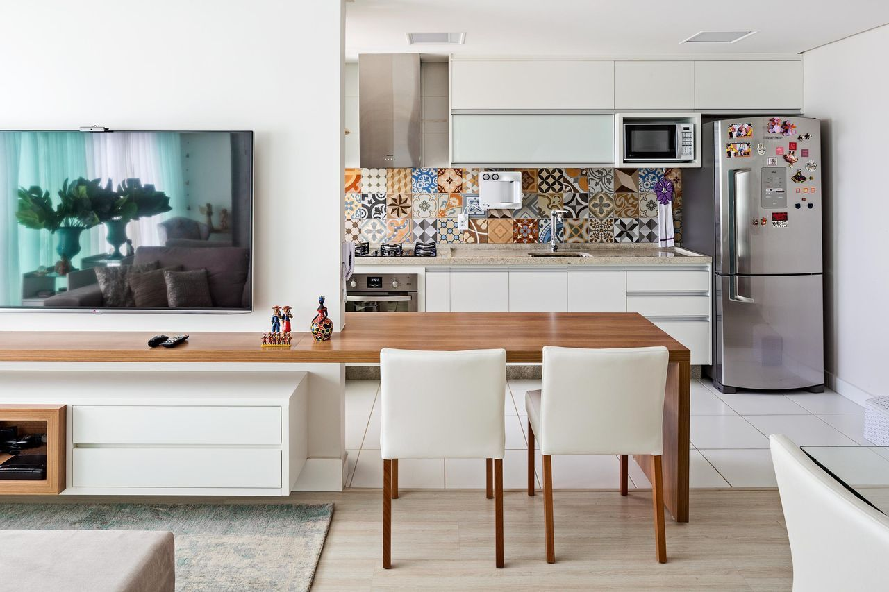 Ladrilhos hidráulicos na decoração de cozinha gourmet