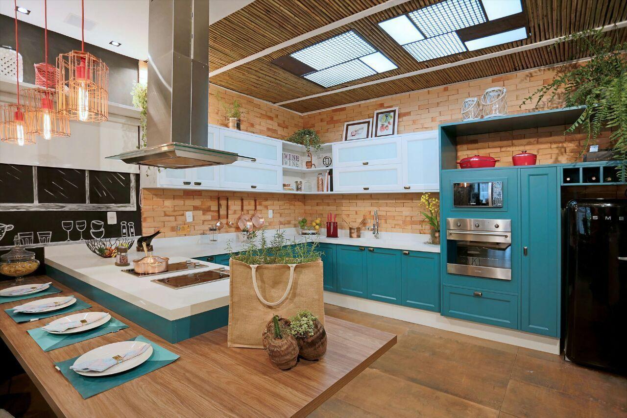 Mix de materiais na decoração da cozinha gourmet