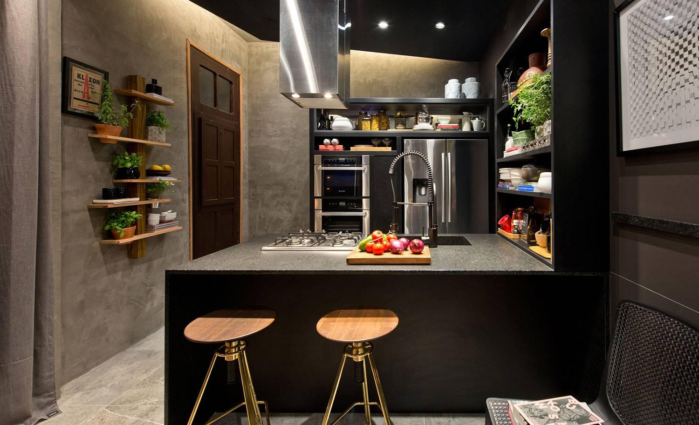 Cozinha com torneira gourmet