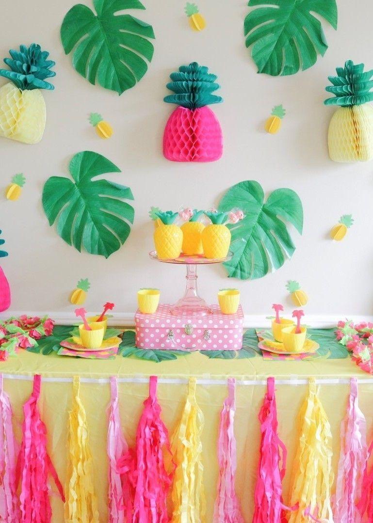 Festa Tropical 100 Ideias de Decoraç u00e3o e Fotos do Tema