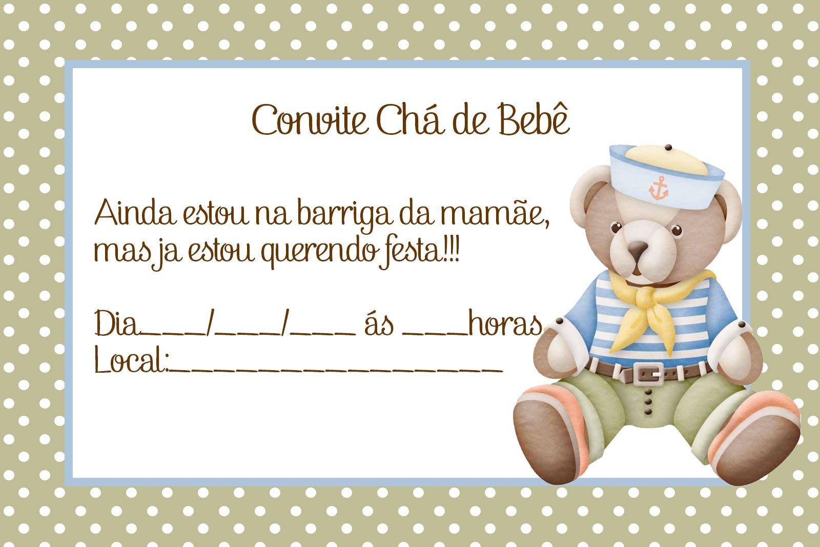 Well-known Convite de Chá de Bebê: 65 Modelos Lindos p/Download e Imprimir CT43