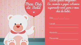 Convite de chá de bebê: 65 modelos para download e imprimir