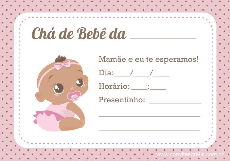 Convite De Chá De Bebê 65 Modelos Lindos Pdownload E Imprimir