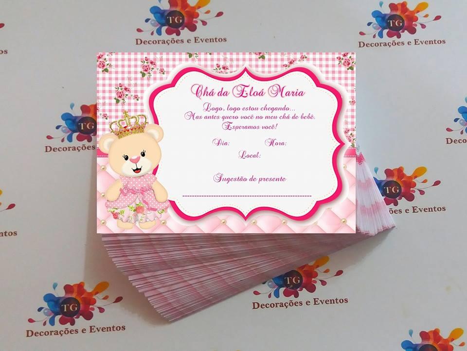 Famosos Convite de Chá de Bebê: 65 Modelos Lindos p/Download e Imprimir TB47