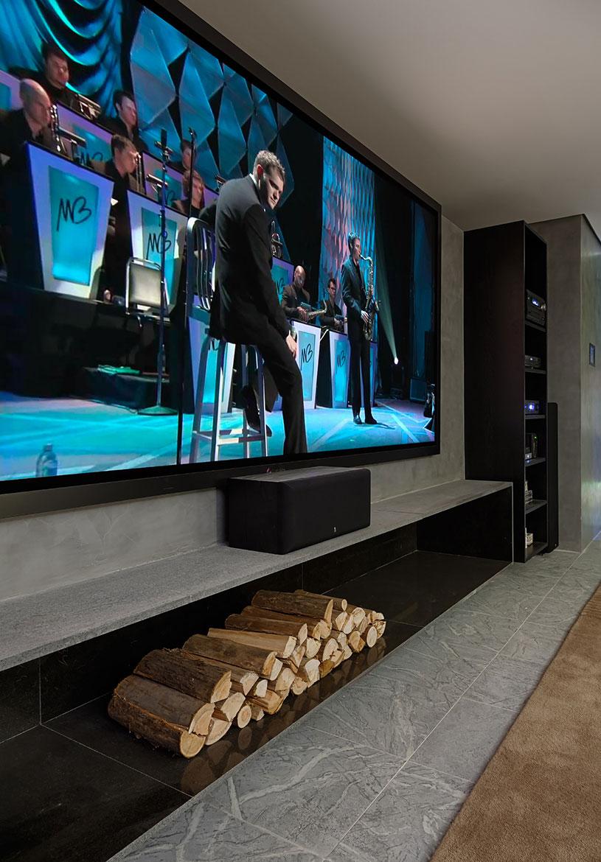Painel de decoração para sala de TV moderna
