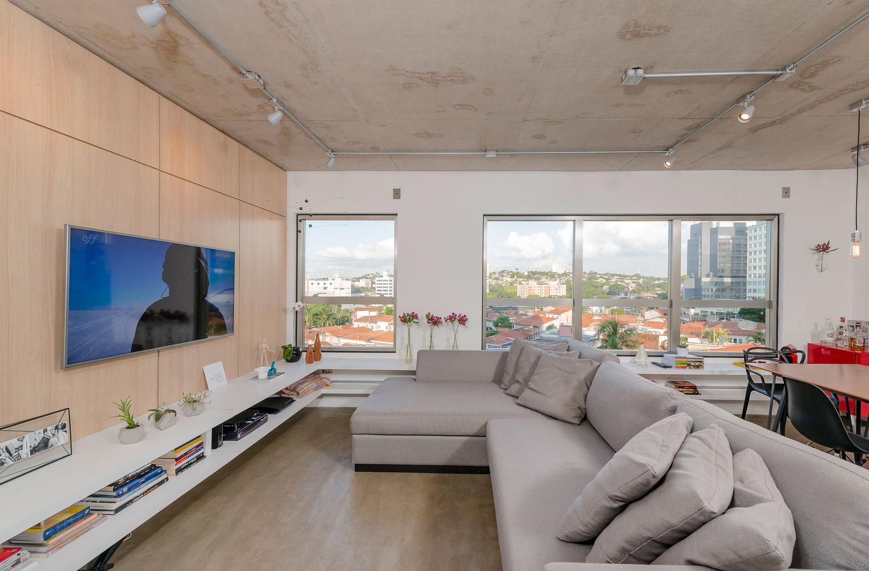 Sala De Tv Moderna 60 Modelos Projetos E Fotos Para Decorar -> Sala De Tv E Jogos