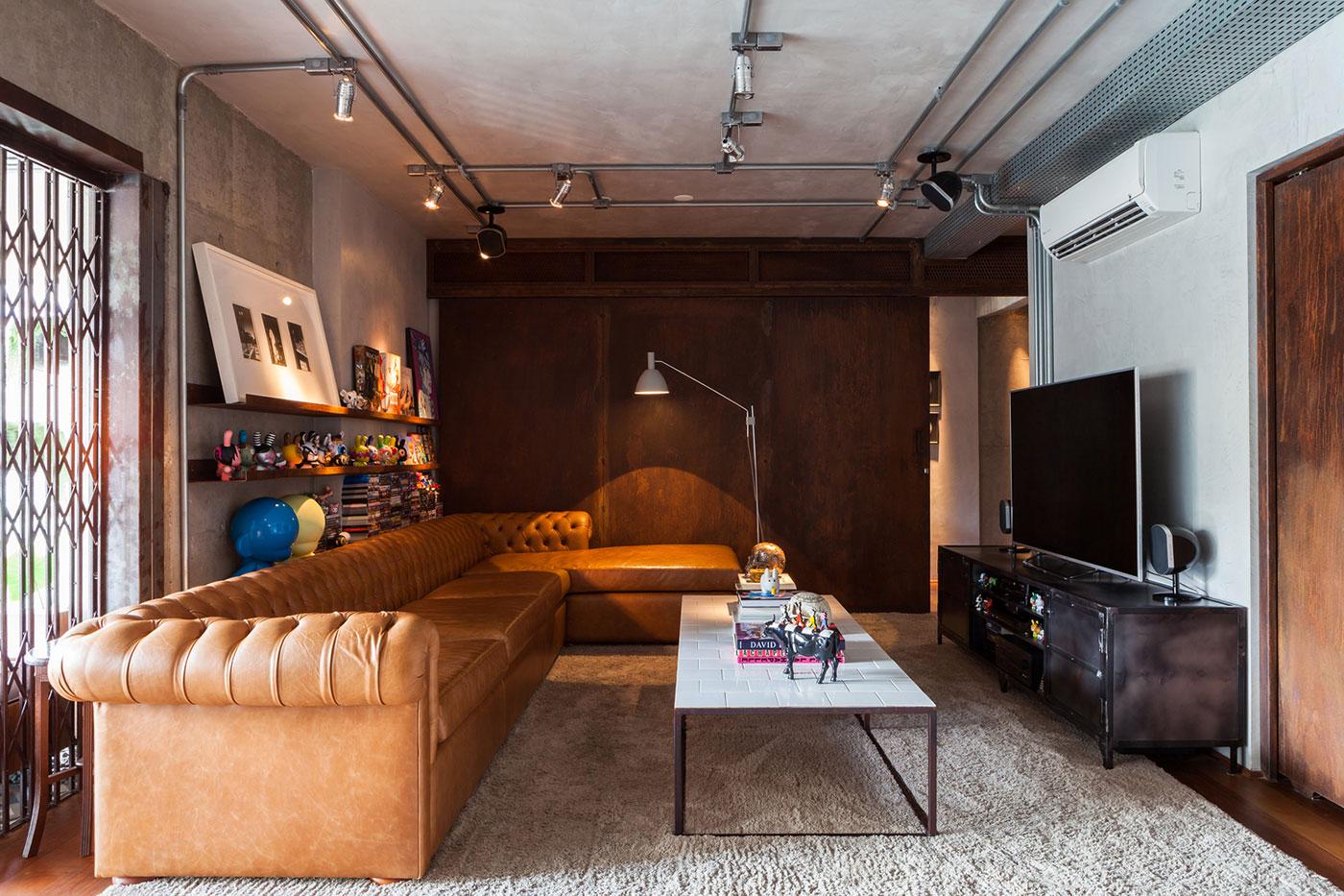Sala De Tv Moderna 60 Modelos Projetos E Fotos Para Decorar -> Sala De Tv E Som
