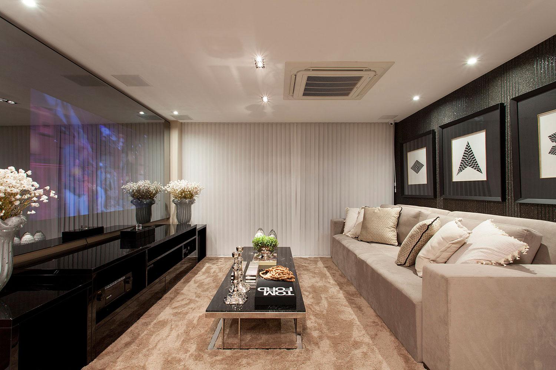 Sala De Tv Moderna 60 Modelos Projetos E Fotos Para Decorar