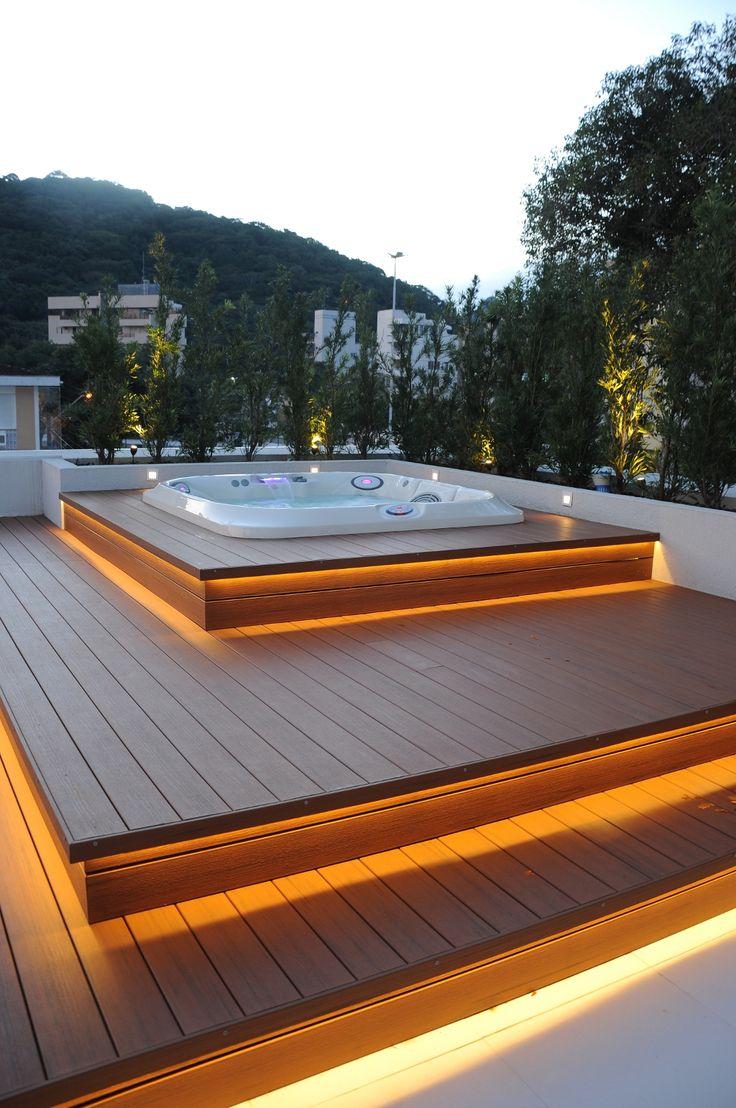Rea de lazer pequena 60 projetos modelos e fotos for Se vende jacuzzi exterior