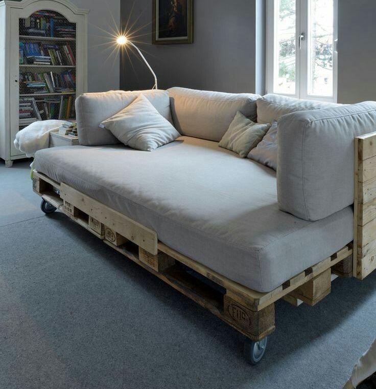 Cama de pallet 60 modelos fotos e passo a passo for Sofa cama para exterior