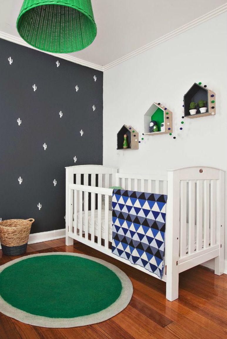 Decora o de quarto de beb 75 ideias com fotos e projetos - Habitaciones originales para ninos ...