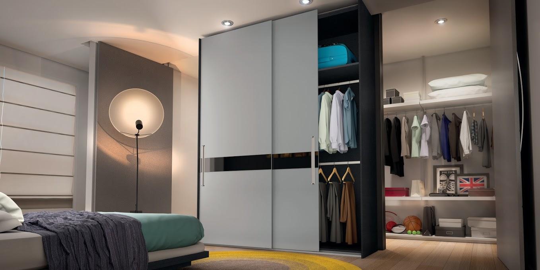 O armário pode dividir as funções do quarto