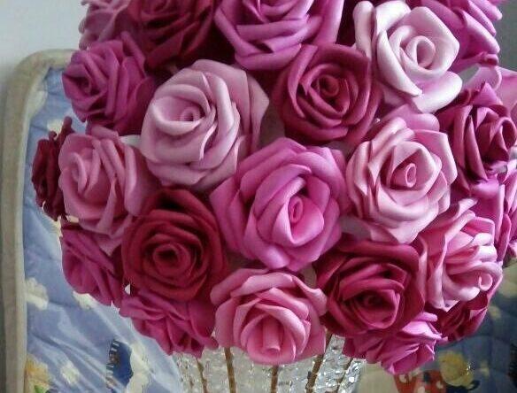 Flores de EVA: 70 ideias, moldes e passo a passo