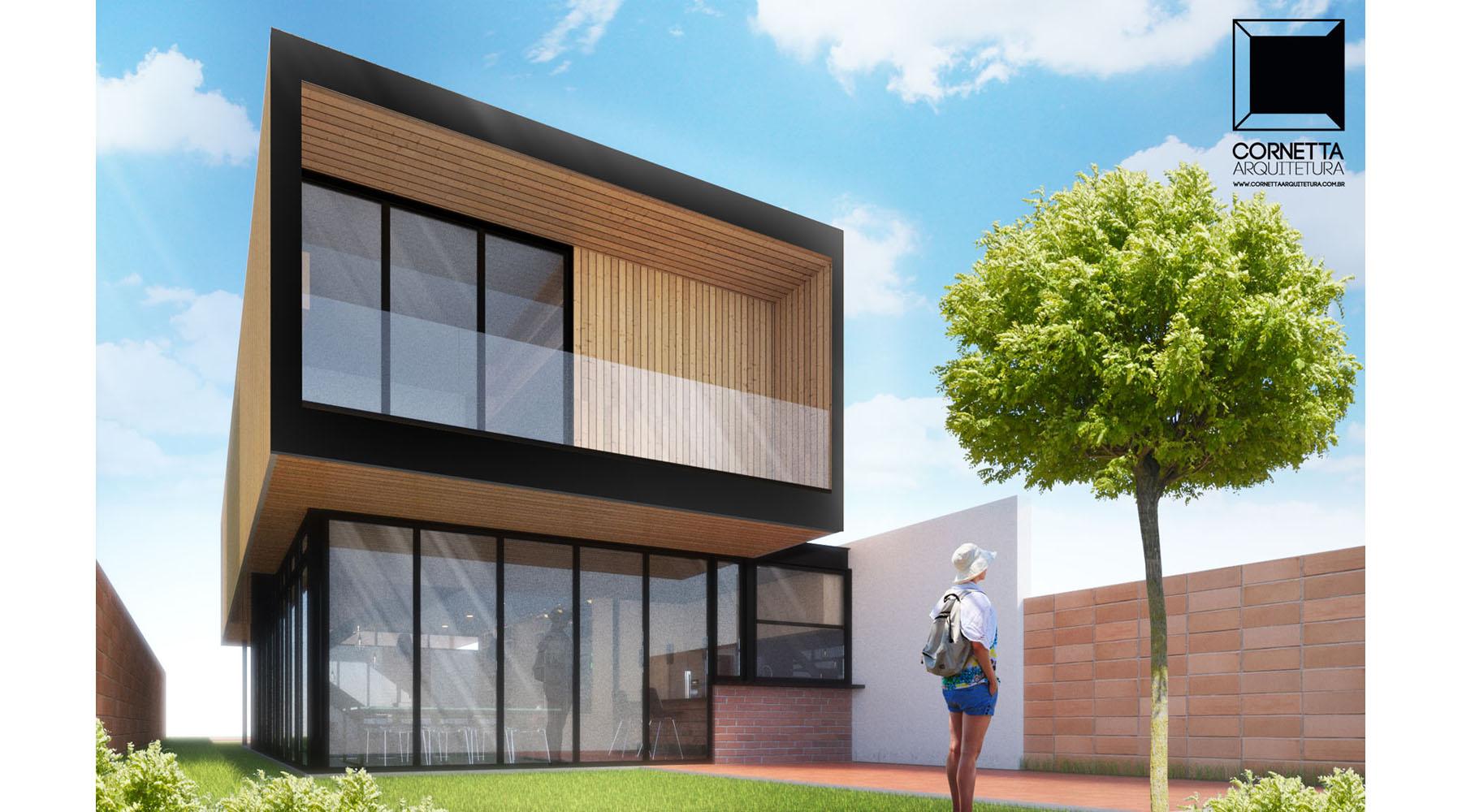 A casa estilo caixa é ideal para quem procura modernidade.