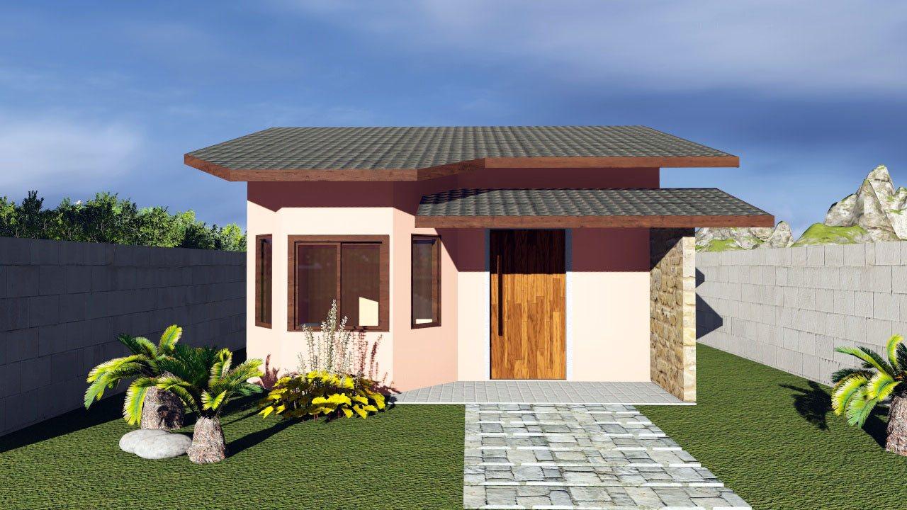 modelos de casas pequenas 60 fotos projetos e plantas ForModelos Jardines Para Casas Pequenas