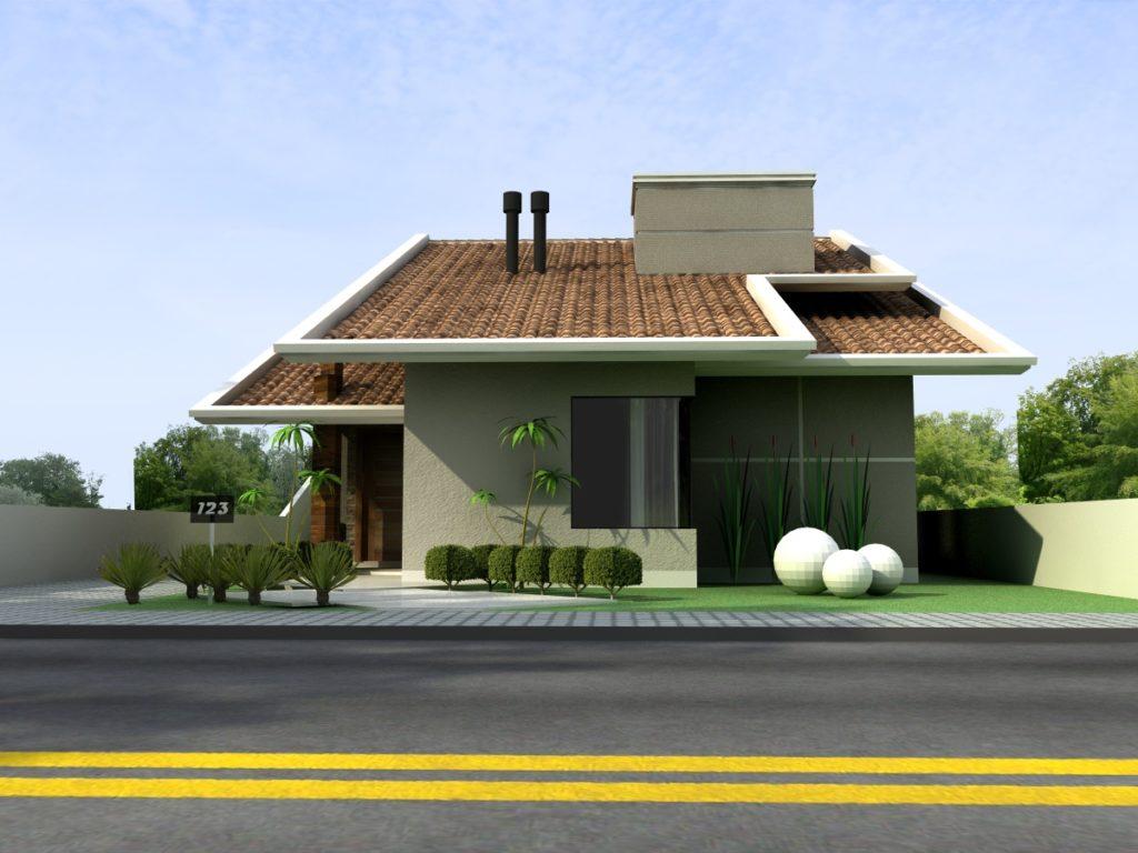 Modelos de casas pequenas 60 fotos projetos e plantas for Antejardines de casas pequenas